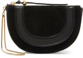 Diane von Furstenberg Leather And Nubuck Clutch