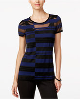 INC International Concepts Illusion-Striped Top, Only at Macy's