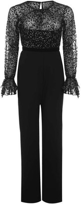 Adrianna Papell Printed Metallic Contrast Jumpsuit