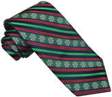 Asstd National Brand Hallmark Snowflake Striped Tie - Extra Long