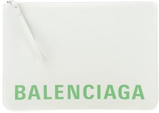 Balenciaga Logo Print Clutch Bag