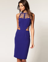 Asos Midi Dress with Cut Out Panels