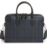 Burberry The Barrow Coated Canvas Briefcase