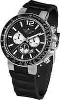 Jacques Lemans Men's Quartz Watch 1-1768A 1-1768A with Rubber Strap