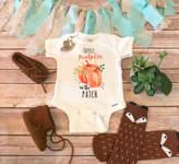 Etsy Pumpkin Onesie®, Halloween Baby Clothes, Cutest Pumpkin in the Patch, Pumpkin Baby Bodysuit, Baby Gi