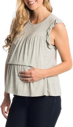 Everly Grey Valentina Maternity/Nursing Top
