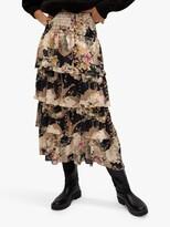 Thumbnail for your product : MANGO Ruffle Floral Midi Skirt, Multi
