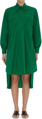 Plan C Asymmetric Shirt Dress