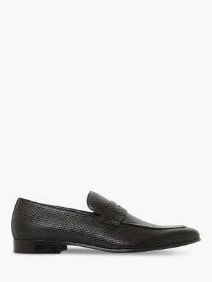 Dune Sand Textured Tassel Leather Loafers, Black