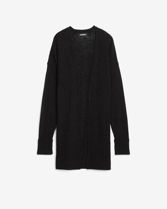 Express Easy Knit Ribbed Cardigan