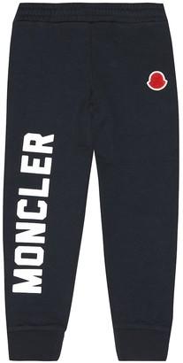 Moncler Enfant Logo cotton trackpants