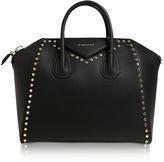 Givenchy Antigona Medium Black Leather Studded Satchel Bag