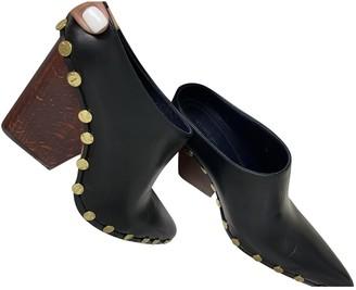 Celine RodAo Black Leather Mules & Clogs