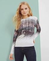 TRISHI Sparkling Swan sweater
