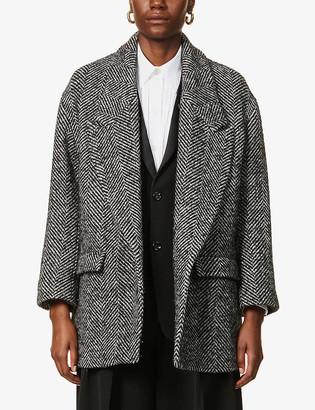 Ports 1961 Graphic-pattern wool-blend jacket