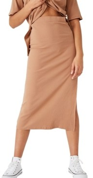 Cotton On Bella Rib Midi Skirt