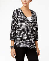 JM Collection Printed Crinkled Jacket, Created for Macy's