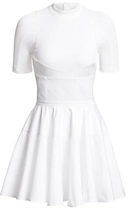 Alexander Wang Ribbed Corset Cotton Dress