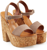 K. Jacques Suede Platform Sandals