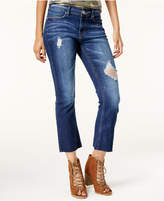 Indigo Rein Juniors' Ripped Cropped Flare Jeans