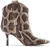 Around The Brand 70MM PYTHON PRINT LEATHER BOOTS