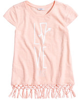 GUESS Love Tassel Cotton Shirt, Big Girls (7-16)