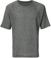 Issey Miyake textured T-shirt - men - Cotton/Polyester - 3