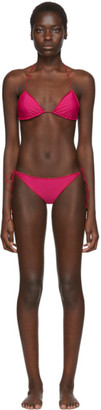 Oseree SSENSE Exclusive Pink String Bikini