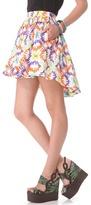 MSGM Tribal Hi Lo Skirt