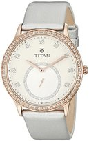 Titan Women's 9957WL01 Analog Display Quartz Silver Watch