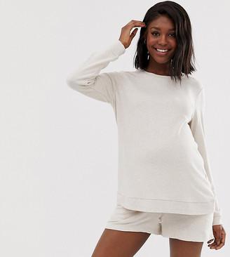 Asos DESIGN Maternity mix & match lounge super soft brushed long sleeve