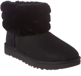 UGG Women's Fluff Mini Quilted Suede Boot