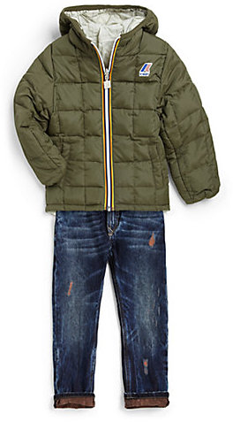 K-Way Toddler's & Little Boy's Jacques Reversible Thermo Plus Double Jacket