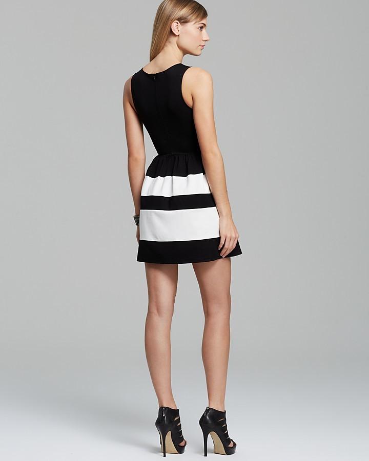 Aqua Dress - Striped