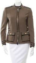 Burberry Leather-Trimmed Lightweight Jacket