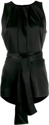 Escada pleated effect sleeveless blouse