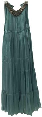 Philosophy di Alberta Ferretti Turquoise Silk Dresses
