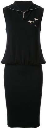 Chanel Pre Owned plane pins knitted dress