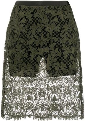 Sacai Sheer Lace Shorts