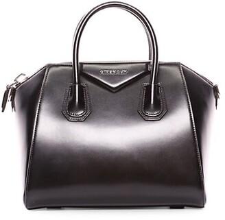 Givenchy Small Antigona Glazed Leather Satchel