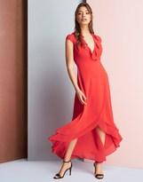 Glamorous Ruffle Wrap Dress