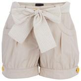Fendi Beige Branded Tulip Shorts