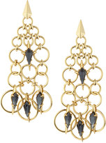 Alexis Bittar Chain Mail Kite Chandelier Earrings