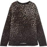 Tom Ford Leopard-print Crepe De Chine Top - Leopard print