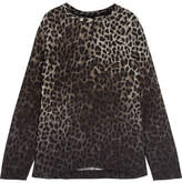 Tom Ford Leopard-print Crepe De Chine Top