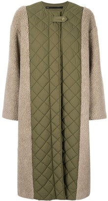 Muller of Yoshio Kubo Contrast Quilted Midi Coat