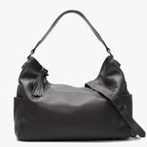 Daniel Doyt Grey Grainy Leather Hobo Bag