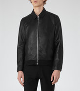 Reiss Nicholas Collared Leather Jacket