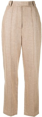 Acler High-Waisted Pleated Trousers