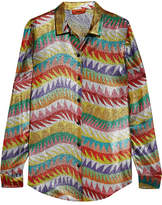 Missoni Silk-blend Lamé Shirt - Metallic